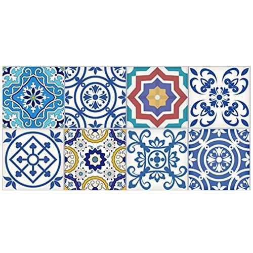winnerruby Art Eclectic Peel and Stick Wandaufkleber Für Fliesen Traditional Talavera Tiles Stickers Bad- Und Küchenfliesenaufkleber