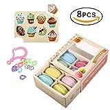 8PCS Macarons Slime Kit, Yidaxing Kristall Schlamm Macarons Schleim Kit Kristall Schlamm Lehm Schlamm Lehm Kit DIY Spiele für Kinder Handgemachte Spielzeug