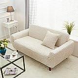 ishine Sofa Überwürfe Sofabezug mit Stretch Elastische Sofabezug Slipcover Sofa Abdeckung in Verschiedene Farbe-145cm-180cm (Beige)