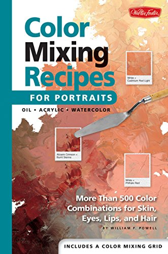Color Mixing Recipes for Portraits: More Than 500 Color Combinations for Skin, Eyes, Lips & Hair por William F. Powell