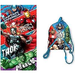 Avengers Toalla de Playa - Bolsa de Playa Avengers Marvel