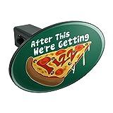 Wir Kommen mit Grafiken und mehr dieser Pizza Funny Oval Anhängerkupplung Trailer-Plug Insert 11/10,2cm (3,2cm)