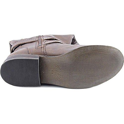 Marc Fisher Amber Wide Calf Damen Rund Leder Mode-Knie hoch Stiefel Dk Brown/Wide Calf