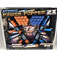 Hog Wild Atomic Power Popper x 2 Battle Pack. 2 Pistolas y 72 Bolas de