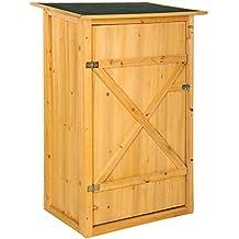 TecTake 402200 - Caseta de Exterior Armario de Madera de jardín para Herramientas cobertizo con tejado
