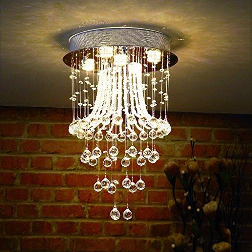 Lustre Chambre personnelle lumières LED lustres en cristal chambre étude chaude moderne salon minimaliste restaurant cristal lampes Éclairage décoratifA+ ( taille : 30*50cm )