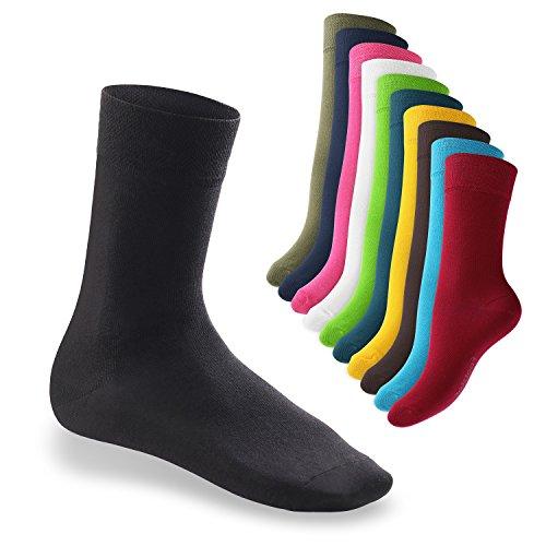 10 Paar EVERYDAY! Socken von footstar für Damen und Herren – Viele trendige Farben | Größen 35-50 | von celodoro