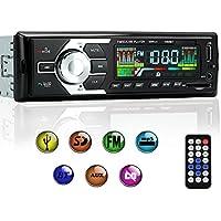KYG Radio de Coche de audio USB / SD / MP3 Receptor Bluetooth manos libres con control remoto Negro