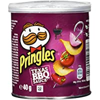 Pringles - Texas BBQ Souce - Productos de aperitivo frito con sabor a salsa barbacoa texana - 40 g - [Pack de 12]