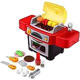 Peradix Niños Barbacoa Barbacoa juguete Juego de cocina infantil rollo Juegos para niños a partir de 3 años