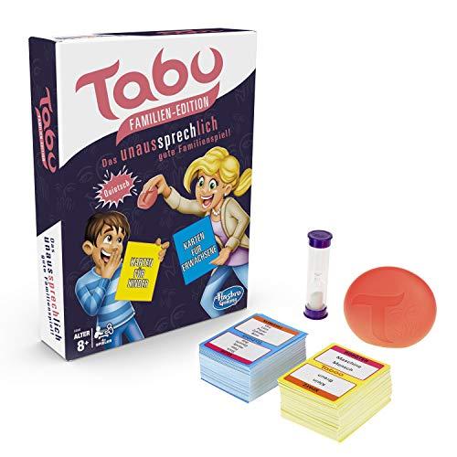 Hasbro Gaming E4941100 Tabu Familien Edition, Familienspiel (Karten Tabu)