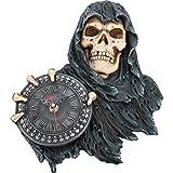 Dark Reaper Wanduhr Totenkopf Sensenmann Totenschädel Gothic