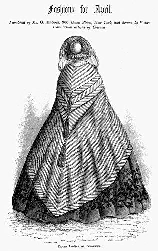 Women'S Coat 1860. /N'Spring Pardessus.' Fashion Illustration From An American Magazine 1860 Of A Lady'S Coat Furnished By A Store On Canal Street In New York. Kunstdruck (45,72 x 60,96 cm)