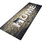 Xmansky Flanell gedruckten Schlicker saugfähige Matten,Großformat Teppich Flur Fußmatte rutschfeste Teppich absorbieren Wasser Küchenmatte/Teppich 40X120 CM