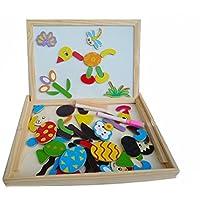 Regolabile per bambini 2 In 1, In legno, con cavalletto, colore: nero Lavagna da gesso