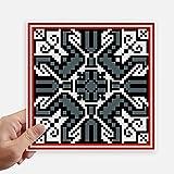 DIYthinker Russland Art graue Textur Land Muster-Quadrat-Aufkleber 20Cm Wand Koffer Laptop Motobike Aufkleber 4Pcs 20cm x 20cm Mehrfarbig