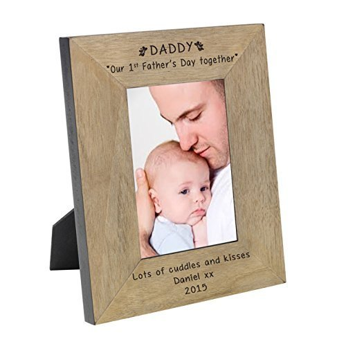 I Heart My 6x4 Oak Frame Gifts, and, Cards Fathers, Day, Gift, Idea Occasion, Gift, Idea Personalised by GiftRush