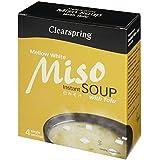 Clearspring Blanco Sopa De Miso Y Tofu 4 X 10g (Paquete de 6)