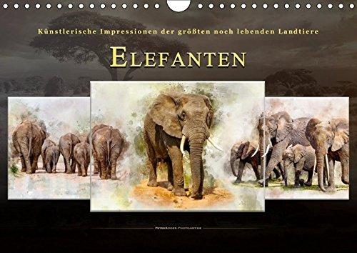 Elefanten - künstlerische Impressionen der größten noch lebenden Landtiere (Wandkalender 2019 DIN...