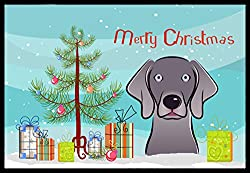 Carolines Treasures BB1603JMAT Christmas Tree and Weimaraner Indoor or Outdoor Mat, 24 x 36, Multicolor