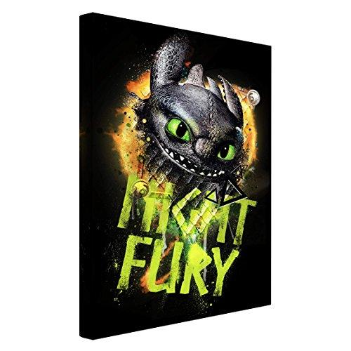 Bilderwelten Stampa su tela Dragons - Night Fury - verticale 3:2, quadri su...