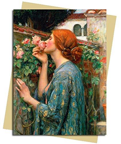 John William Waterhouse The Soul of The Rose 1908 Grußkarte, blanko, Folie 1908 Rosen