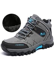 YITU Chaussures de Randonnée Hautes Homme Chaussures à Excursion pour Homme Exercices à l'extérieur Chaussures pour Faire de la Course Chaussures sont Imperméables Anti-glisssantes et Antichoc