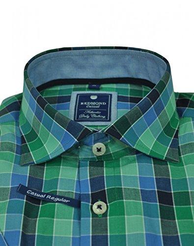 Michaelax-Fashion-Trade -  Camicia classiche  - A quadri - Classico  - Maniche corte  - Uomo Grün(64)