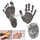 BabyRice Value Baby Handprints and Footprints Kit Black Inkless Wipes No Messy Ink! Choose pack size (1 WIPE / 2xA5CARDS)