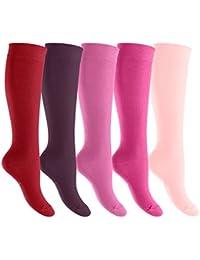 Footstar EVERYDAY! - 5 pares de calcetines por la rodilla unisex - Calidad de celodoro - Disponibles en varios colores y tallas de la 35 a la 50