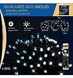 Guirlande lumineuse 480 LED CN 48 m Bleu et blanc froid