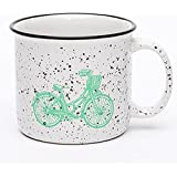 TIANLIANG04 Tazas Tazas de café Taza De Cerámica Esmalte Imitación _ Taza Grande Taza Vintage, 401-500Ml, Blanco