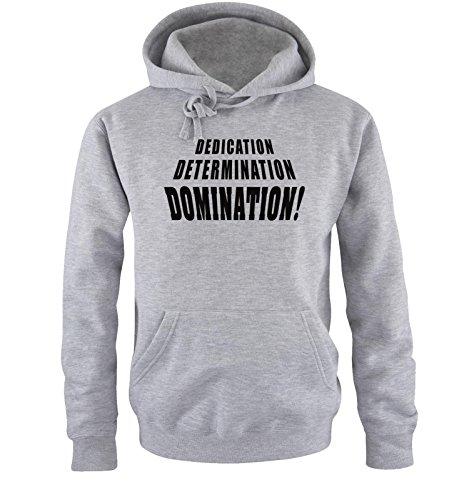 Comedy Shirts - DOMINATION - Uomo Hoodie cappuccio sweater - taglia S-XXL different colors grigio / nero