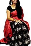 #10: Saree(Shreeji Ethnic Saree For Women Party Wear Half Multi Colour Printed Sarees Offer Designer Below 500 Rupees Latest Design Under 300 Combo Art Silk New Collection 2018 In Latest With Designer BlouShreeji Ethnic Beautiful For Women Party Wear Sadi Offer Sarees Collection Kanchipuram Bollywood Bhagalpuri Embroidered Free Size Georgette Sari Mirror Work Marriage Wear Replica Sarees Wedding Casual Design With BlouShreeji Ethnic Material