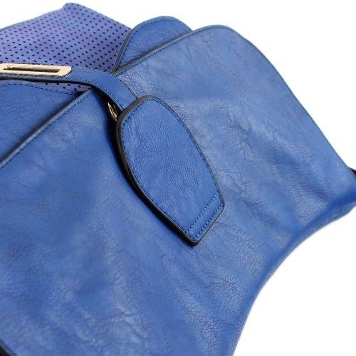 Borsetta borsa da donna borsa shopping bag donna in ecopelle finta pelle LK6066 Blau