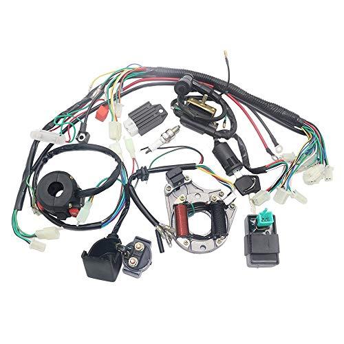 Yaoaoden Elektrik-Statorspule CDI-Kabelbaum für 4-Takt-ATV KLX 50cc-125cc Mehrfarbig