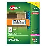 Avery Langlebig weiß Cover Up ID Etiketten für Laserdrucker, 8,3x 21,3cm 150Stück (61531)