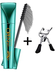 3D Fiber Lash Waterproof Mascara Long Lasting Natural Curling Vegan Black Eyelashes (Eyelash curler included)
