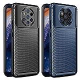 VGUARD [2 Stücke] Hülle für Nokia 9 PureView, Stylisch Karbon Design Schutzhülle Cover Robuste Soft Flex TPU Silikon Handyhülle Case für Nokia 9 PureView (Schwarz+Blau)