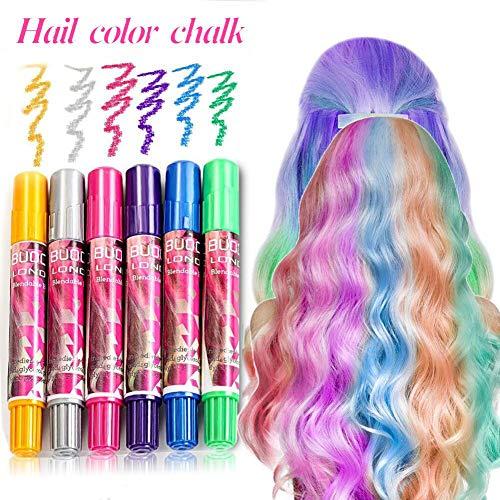 Haarkreide, Haarfarben, Hair Chalk, Temporäre Haarfarbe, Non-Toxic