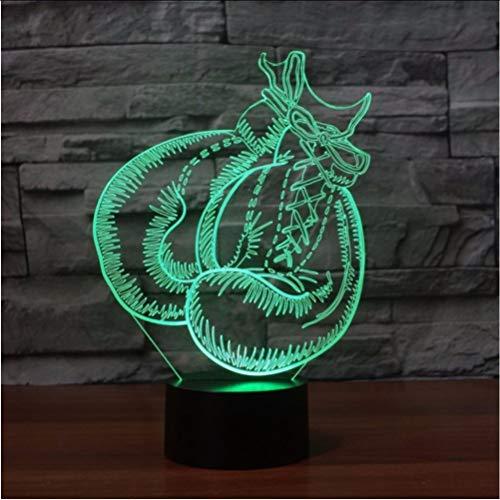 Zlxzlx 3D Usb Boxhandschuh Tischlampe Visuelle Led 7 Farben Stimmung Dimmen Schlaf Nachtlicht Kinder Spielzeug Leuchte Schlafzimmer Dekor Geschenke