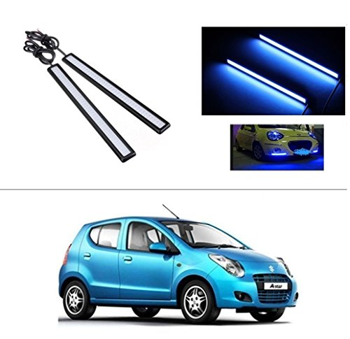 AutoStark Daytime Running Lights Cob LED DRL (Blue) Maruti Suzuki A-Star  available at amazon for Rs.249