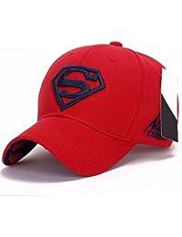 fbd09b41bb793 Llxln Moda Hombres Mujeres Unisex Snapback Exterior Ajustable Gorra  Superman Hip-Hop Estirar Hatf
