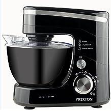 Prixton - Mixer/impastatrice orbitale da cucina, 4,5 l, 600W, colore nero