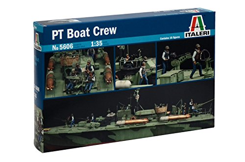 Italeri 5606 - elco 80' pt boat crew model kit scala 1:35