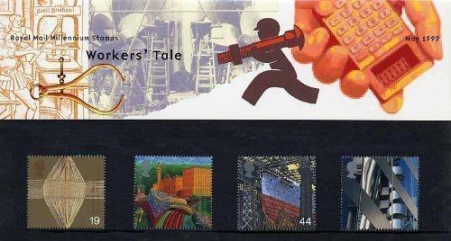 1999 Workers'Tale (Millennium Serie Geschenkbox PP262 (bedruckte Nr.) - 298 Royal Mail Briefmarken -