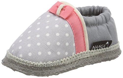 Nanga Unisex Baby Mia Krabbelschuhe, Grau (Hellgrau), 18 EU (Babyschuhe Filz)