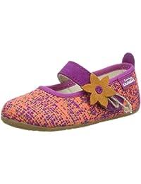 Living Kitzbühel Mädchen Ballerina Multicolor mit Blume Hausschuhe