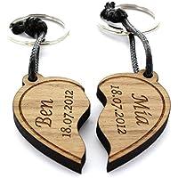 Partner Schlüsselanhänger zum Herzen 2er Set geteiltes Herz