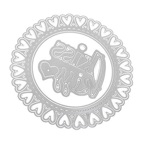 Xmiral fustelle per scrapbooking per carta cutting dies metallo fustella stencil #19032702x, accessori per big shot e altre macchina(d)